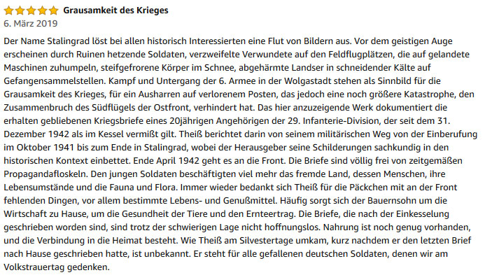"Rezension zu""Stalingrad"""